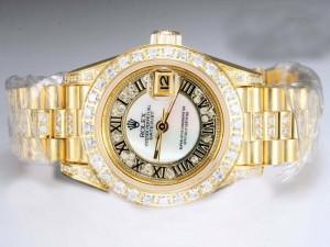 Rolex-Datejust-Automatic-Diamond-Bezel-And-Marking-White-Dial-Lady-Size-Watch-Rolex5047